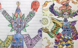 Lấy cảm hứng từ tranh vẽ bậy của con, ông bố vẽ nên những siêu phẩm anime đẹp đến nín thở
