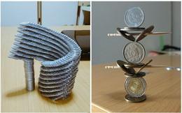Những tác phẩm xếp hình đồng xu siêu tỉ mỉ khiến người xem lác mắt
