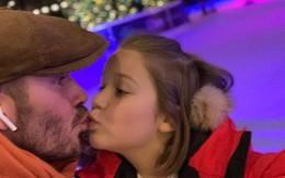 Con gái 7 tuổi bố vẫn hôn môi con, có nên thể hiện tình cảm theo cách mà Beckham vẫn làm?
