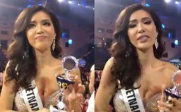 Minh Tú nhận cúp riêng từ Missosology, bật khóc xin lỗi khán giả sau đêm chung kết Hoa hậu Siêu quốc gia