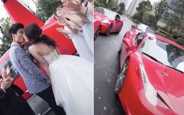 Clip đám cưới Rich Kid ở Trung Quốc gây xôn xao: Đón dâu bằng trực thăng, 8 chiếc Ferrari đỏ chói theo sau hộ tống