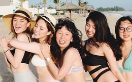 Hội bạn thân Trinh Xíu, Trang Hý, Kaity rủ nhau khoe dáng nuột với bikini