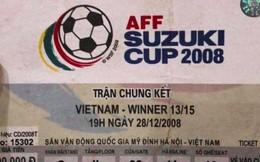 Đây là chiếc vé đưa người hâm mộ trở về ký ức Việt Nam vô địch AFF Cup 10 năm trước