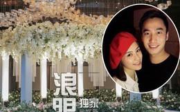 Hé lộ toàn cảnh lễ đường tràn ngập hoa tươi tại khách sạn 5 sao trước giờ G của Chung Hân Đồng