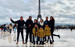 """Kim Lý """"tháp tùng"""" Hà Hồ đưa gia đình sang Pháp tận hưởng kỳ nghỉ Giáng sinh"""