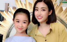 Cô bé ngồi ké ghế Hoa hậu Mỹ Linh nhưng xinh đẹp chẳng kém, dân tình thốt lên: 'Hai mỹ nhân trong một khung hình'
