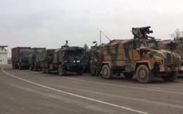 Cận cảnh thiết giáp Thổ Nhĩ Kỳ áp sát biên giới Syria