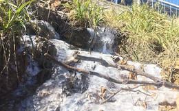 Suối băng lạ mắt xuất hiện tại đỉnh Fansipan