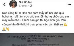 Hoa hậu H'Hen Niê vào đề thi môn Ngữ văn thi chọn học sinh giỏi