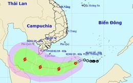 Bão số 1 đang giật cấp 10 cách Côn Đảo 430km, hướng vào biển Nam Bộ