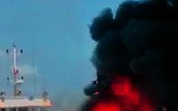 Cháy tàu vỏ thép, thiệt hại nhiều tỷ đồng