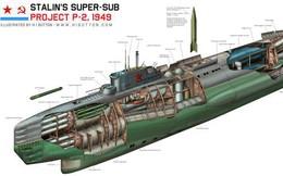 Liên Xô từng muốn chế tạo siêu tàu ngầm có thể mang theo xe tăng và phương tiện lưỡng cư để đổ bộ