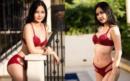 Thân hình đẹp, Lê Âu Ngân Anh mặc bikini bốc lửa sau khi bị chê bai