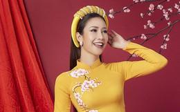 Hoa hậu Phan Thu Quyên khoe nhan sắc xinh đẹp khi diện áo dài