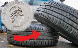 """Đặt đồng xu lên lốp xe: """"Cách kiểm tra vàng"""" giúp lái xe an toàn và tiết kiệm chi phí"""