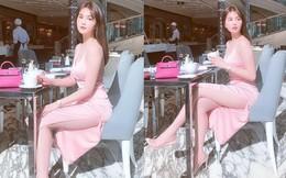 Ngọc Trinh diện váy xẻ cao, khoe dáng gợi cảm, chân dài nõn nà ở tuổi 30