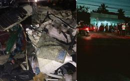 Hình ảnh vỡ vụn kinh hoàng tại hiện trường vụ xe bán tải đâm trực diện xe tải chở rau