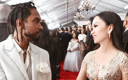 Em gái tỷ phú của Cẩm Ly thoải mái trò chuyện với sao ngoại tại lễ trao giải Grammy