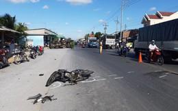 Ô tô tải và 2 xe máy tông nhau trên quốc lộ, 1 người chết