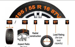 Ý nghĩa các con số trên lốp xe không phải ai cũng biết