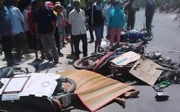 Xe tải va chạm hàng loạt xe máy ở Long An: Nhiều người thương nặng, nằm la liệt trên đường