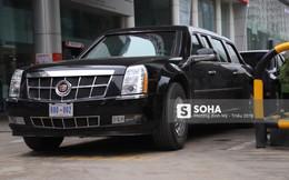 [ẢNH] Siêu xe Quái thú của Tổng thống Trump và đoàn hộ tống đổ xăng ở Hà Nội