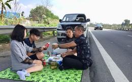Truy tìm người livestream cảnh gia đình ăn nhậu trên cao tốc Nội Bài - Lào Cai trưa mùng 2 Tết