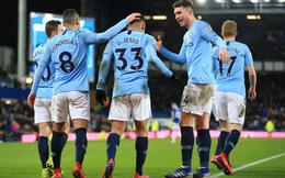 Vòng 26 Premier League 2018/19: Everton 0-2 Man City