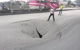 Quảng Ninh: Xuất hiện hố tử thần rộng hơn 50m2 trên Quốc lộ 18