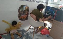Dán chặt con vào tường để rảnh tay chơi game, ông bố trẻ khiến dân mạng bức xúc
