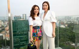 Hoa hậu Thu Hoài mặc toàn đồ hiệu, tự tin tạo dáng cùng nghệ sĩ Hàn