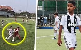 Xem màn trình diễn đẳng cấp của con trai Ronaldo: Chờ cuộc so tài với con trai Messi