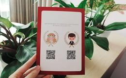 """Thiệp cưới """"chất lừ"""" thời công nghệ: Quét mã QR để tìm địa điểm nhà trai, nhà gái"""