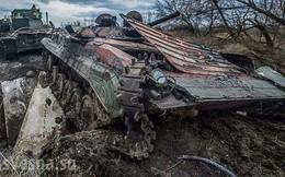Xe thiết giáp Ukraine trúng mìn trên vùng Donbass