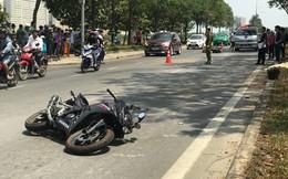 2 mô tô tông nhau trên đại lộ Mai Chí Thọ, 1 người chết, 2 bị thương