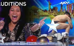 Asia's Got Talent: Thí sinh gây sốc khi thoát y diễn hài trên sân khấu