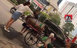 2 khách nữ sang chảnh nhưng thiếu ý thức và ánh mắt ngao ngán của bác bán hoa bên vệ đường