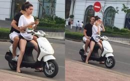 Hồ Ngọc Hà chở Kim Lý bằng xe máy mà không đội mũ bảo hiểm gây tranh cãi