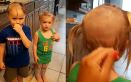 Nghịch máy cạo râu, 2 đứa trẻ mếu máo nhận về quả đầu thảm họa rồi khóc thét trước cách xử lý không ngờ của người mẹ