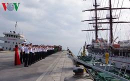 Tàu buồm 286 - Lê Quý Đôn thực hiện huấn luyện thực hành trên biển