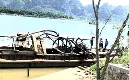 Phát hiện vật thể nghi là sọ người trong khi hút cát trên sông