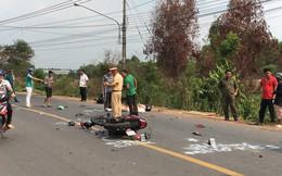 Hai xe máy tông nhau nát bét, 2 người chết, 1 người nguy kịch