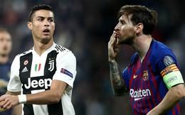 """Lập thành tích vô tiền khoáng hậu, Ronaldo vẫn phải """"ngửi khói"""" Messi"""