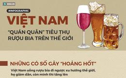 Kỷ lục 'sốc' về rượu bia ở Việt Nam: Mỗi năm 79.000 người chết, thiệt hại 65.000 tỷ đồng