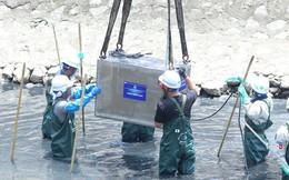 [Ảnh] Tận mắt công nghệ Nhật đặt dưới đáy, làm 'bay' mùi hôi sông Tô Lịch chỉ sau 3 ngày