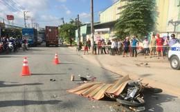 Nam thợ hồ đi xe máy bị xe container cán qua đầu, chết thương tâm ngày cuối tuần