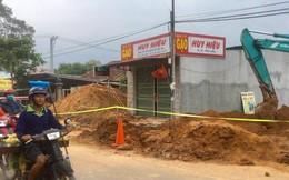 Sập công trình đường ống thoát nước, nam công nhân bị đất vùi lấp tử vong