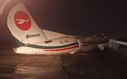 Máy bay trượt khỏi đường băng, gãy làm 3, sân bay Myanmar tạm thời đóng cửa