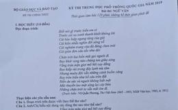 Nam sinh ở Phú Thọ chụp đề thi môn Văn THPT Quốc gia 2019 gửi qua Facebook nhờ 2 người giải hộ