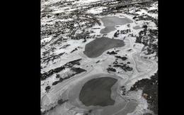 Bức ảnh chụp bằng iPhone khiến Reddit xôn xao: Không biết là vũng nước hay hồ băng nhìn từ trên cao